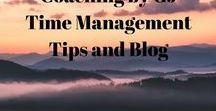 Coaching by GJ  Time Management Tips and Blog / Time Management topics, BLOG, tips to be more in control.  Discussion on how to plan your day; schedule your time; have productive meetings.