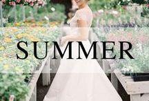 Weddings // Spring + Summer / Spring and Summer wedding inspiration