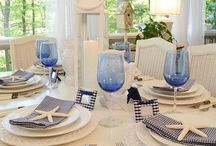 Table settings / Holiday, party settings. / by Sherry Sayers