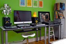 Music Studio Room / Home studio #music #studio  / by Sherry Sayers