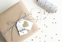 It's a wrap! Gift ideas , gift wrap & packaging / #Gifts #presents #giftwrap #bows #ribbons