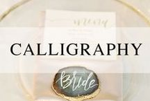 Calligraphy / Calligraphy for your wedding