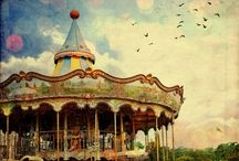 Carnival, circus and fairground / #carnival #fair #fairgrounds #carousels #rides
