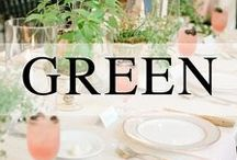 Weddings // Green / Green wedding inspiration