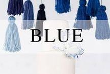 Weddings // Navy + Blue / Blue wedding decor inspiration