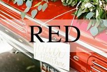 Weddings // Red / Red wedding inspiration