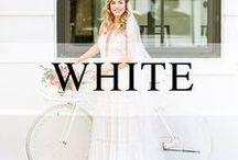 Weddings // White + Cream / Shades of white and cream wedding decor