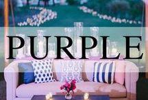 Weddings // Lavender + Purple / Lavender and shades of purple wedding inspiration