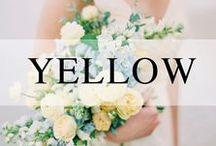Weddings // Yellow / Yellow wedding decor