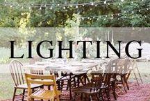 Wedding // Lighting + Draping / Lighting and draping ideas for your wedding.
