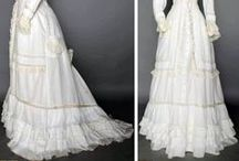 Victorian White Gowns 1837 - 1901 / Victorian clothing / by Elva Cawood