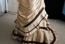 Victorian Beige/Tan Gowns 1837 - 1901 / by Elva Cawood