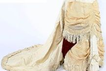 Victorian Cream/Ivory gowns 1837 - 1901 / Victorian clothing / by Elva Cawood