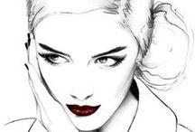Beauty & Fashion Illustration / | Beauty Illustrated |