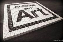 #achetezdelart vu par Delphine Priem / Le label Achetez de l'Art en mosaïque, interprété par l'artiste Delphine Priem : on est fan ! http://delphinepriemart.blogspot.fr/
