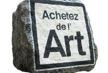 #achetezdelart vu par Stephane Jaspert / Le pavé Achetez de l'Art ! http://boucherieart.free.fr/