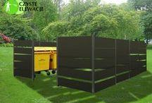 Zabudowy śmietników / Trashcan housing / Mała architektura ogrodowa. Zabudowy kontenerów, boksów, śmietników, koszy.