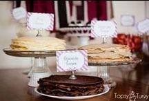 Chandeleur / Crêpes Party / Crêpes Bar / Des crêpes et c'est la fête! Idées rigolotes, recettes classiques ou originales, de quoi s'amuser pour une crêpe party !