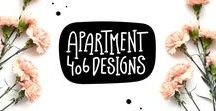 Apartment 406 Designs Blog / All posts from the blog Apartment 406 Designs with printable freebies, lettering and easy DIYs.