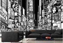 Deco Ideas: Our New Murals / Idées Déco: Nos Nouvelles Murales / Beautiful wallpaper murals. All our murals are prepasted, easy to install, dry strippable and reusable. | Magnifiques murales en papier peint. Toutes nos murales sont préencollées, faciles à poser, s'enlèvent à sec et sont réutilisables.
