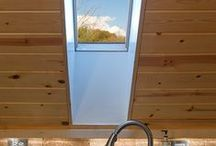 Under a sloping roof