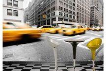 New York, Manhattan and Brooklyn Bridge | Cityscape Murals | Murales de Scènes Urbaines / Beautiful New York, Manhattan and Brooklyn Bridge wallpaper murals. All our murals are prepasted, easy to install, dry strippable and reusable. | Magnifiques murales en papier peint de New York, Manhattan et Brooklyn Bridge. Toutes nos murales sont préencollées, faciles à poser, s'enlèvent à sec et sont réutilisables.