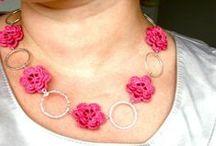 Häkeln - Schmuck / Crochet Necklace and Earrings