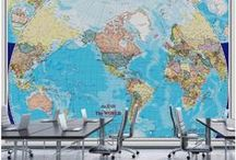 Maps and Flags Wallpaper Murals / Murales en Papier Peint de Cartes et Drapeaux / Beautiful maps and flags wallpaper murals. All our murals are prepasted, easy to install, dry strippable and reusable. | Magnifiques murales en papier peint de cartes et de drapeaux. Toutes nos murales sont préencollées, faciles à poser, s'enlèvent à sec et sont réutilisables.