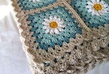 Crochet~Blankets & Pillows & Stool Covers / by Wilma Gardien-Hans