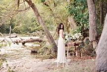 Tranquil Beauty by the Stream / Love the tranquil and serene setting of this shoot by Chris Isham Photography. Perfect spot for a romantic elopement in our IK6901 dress!   Make sure to check out the feature on Magnolia Rouge: http://magnoliarouge.com/tranquil-beauty-by-the-stream/
