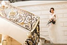 A Paris Elopement / Where better to run off for an elopement than the City of Love? Cynthia Martyn staged this shoot at the Shangri-La Hotel in Paris in such a glamorous and romantic way. HB6565 looks truly elegant with a gold headpiece and simple long veil. Thank you so much to these amazing vendors for such beautiful work!  Photographer: Corina V. Photography Producer/Stylist: Cynthia Martyn  Make Up/Hair: Modern Beauties Paris Venue: Shangri-La Paris
