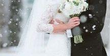 Mariage d'hiver / Découvrez mes inspirations pour un mariage version Hiver, la robe bien sûr, mais aussi des idées pour assortir vos accessoires, votre maquillage ou votre déco de mariage  - -  -  -  -  #robedemarieeblanche #robedemarieehiver #mariagehiver #hiver