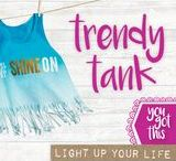 TRENDY TANK / TRENDY TANK: Make your own style statement and Just Be You creating this modern A-line tank with a twist. Learn ombré techniques, snip and style, then go gold and bold adding cool iron-on word art.  CRAFTIVITY: Craft kits that are SMART, CREATIVE & COOL.