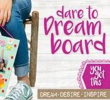 DARE TO DREAM BOARD / Dream, desire and inspire! AT CRAFTIVITY we love to dream and create. Find ideas here what to put on your amazing CRAFTIVITY Dare to Dream Board.