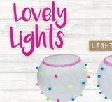 LOVELY LIGHTS / CRAFTIVITY loves little pompoms and gorgeous glitter! Mix them together with decoupage and votives for lovely little lights.