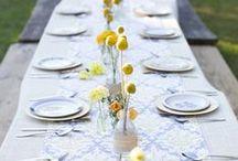 Inspiration en jaune et bleu