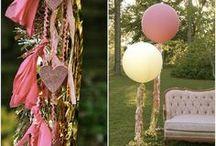 Decoración con globos / Inspiración para decorar una fiesta infantil, boda o evento con globos gigantes.