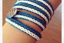 crochet- bracelets & rings