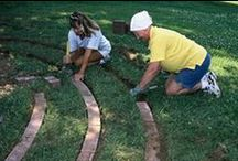 Labyrinth Designs / A labyrinth or rock garden, a space for healing and reflection right in your yard. A great hardscaping backyard idea. DIY landscaping: http://www.earthhaulers.com/residential-services/