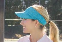 Visors / Fit Chic's visor is so lightweight!  Great for golf, running, tennis, gardening, or a day at the beach!  Packs great in your bag or purse.  Machine Washable
