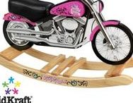 Motorcycle Rocking Horse / These motorcycle rocking horses are so cool, your kids will love them!