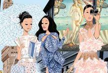 Glam' Illustrations ! / Fashion and Glam Ilustrations from Jordi Labanda, Kerrie Hesse, Kanako, Gavin Reece etc