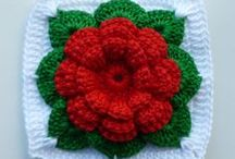 Crochet - Squares with Flowers