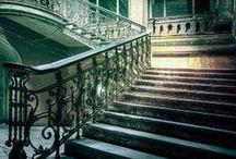 Régi lépcsők és korlátok