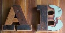 Wood Type / Wooden letters made from reclaimed wood. Piano wood. Antique Wood. Upcycled wood. Slab Serif typography based on 1900s wood type.