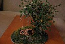 Gyöngyeim / My beads / Néhány gyöngyből készült növényem (fák, virágok) / Some pearls plant (trees, flowers)
