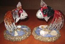 Gyöngyeim 2. / My beads 2. / Néhány gyöngyből készült ékszerem, tárgyam / Some pearls jewelery, ornaments