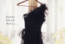 """Little Black Dress / """"One is never over-dressed or underdressed with a Little Black Dress.""""  —  Karl Lagerfeld"""