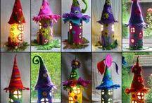 El jardín de las Hadas / Hadas, duendes, magos, casitas, castillos...