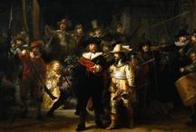 Art Painting  Rembrandt de Netherlands /  Schilderijen van Rembrandt van Rijn Kunstschilder Hollandse school Geboren 15 Juli Leiden 1606 of 1607 overleden Amsterdam 1669 / by Mieke Löbker